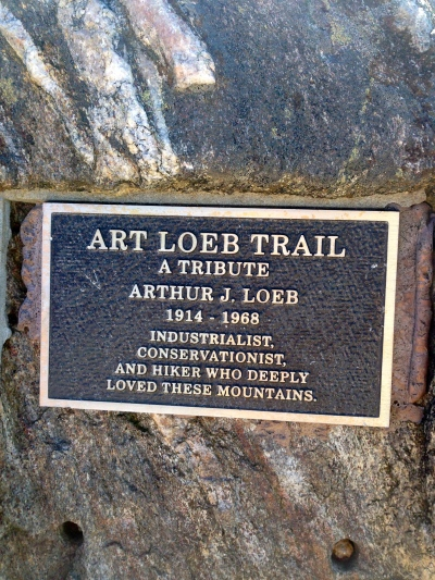 marker for Art Loeb on Black Balsam Knob