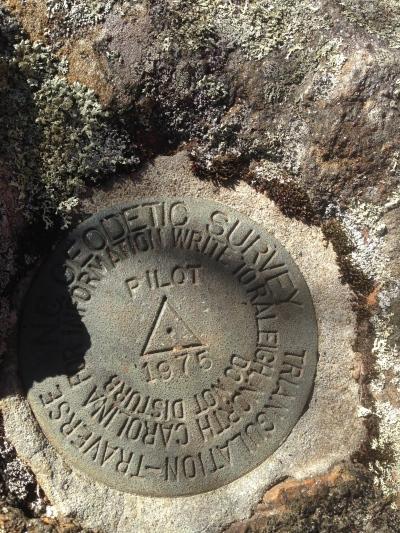 Pilot Mountain marker