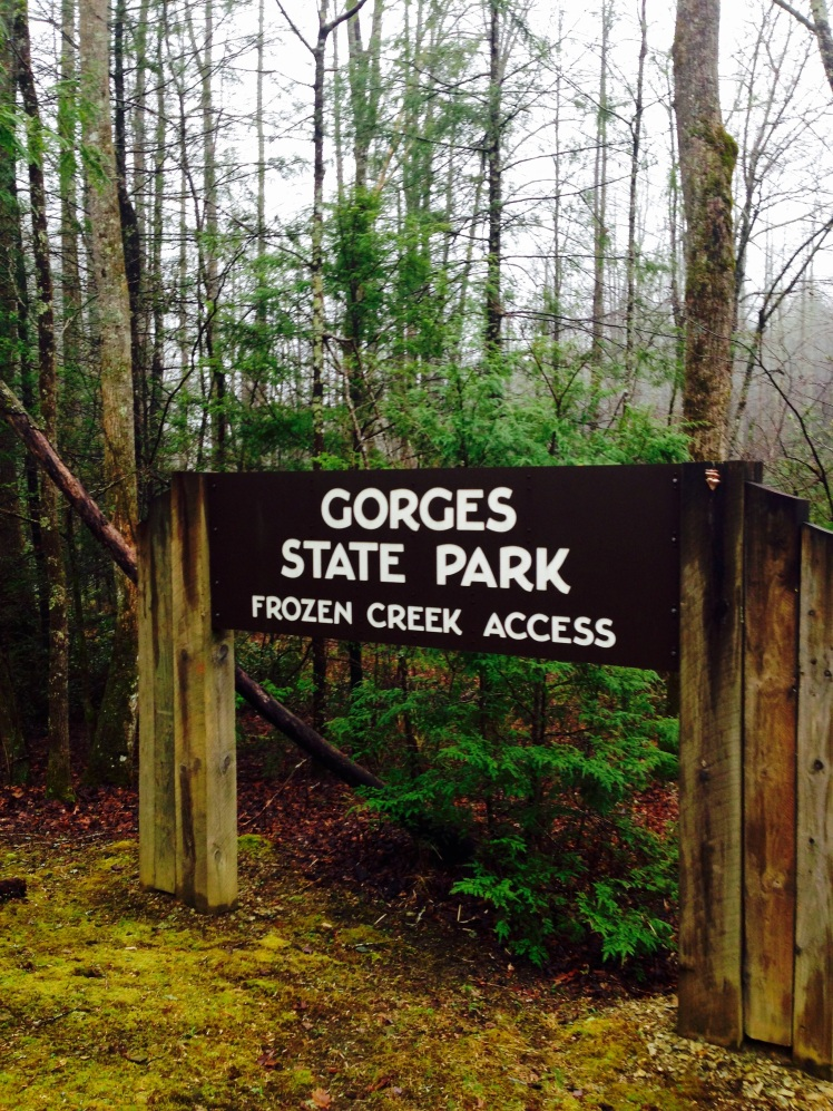 Gorges State Park - trailhead
