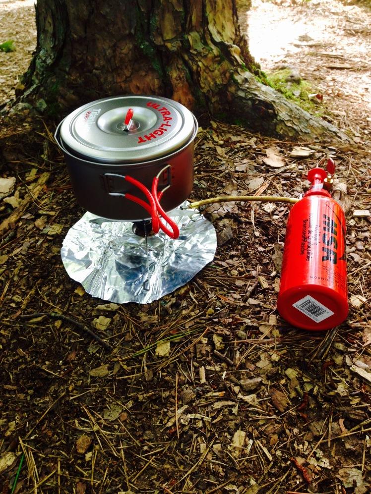 Evernew Titanium Pot and MSR Whisperlite International