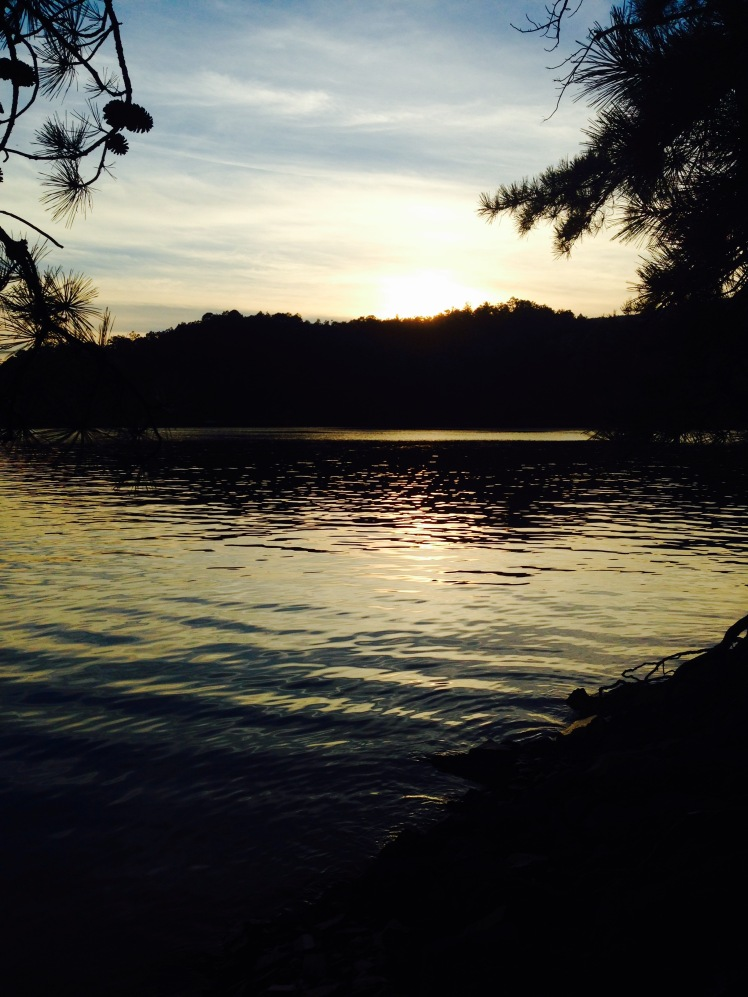 Fontana Lake sunset
