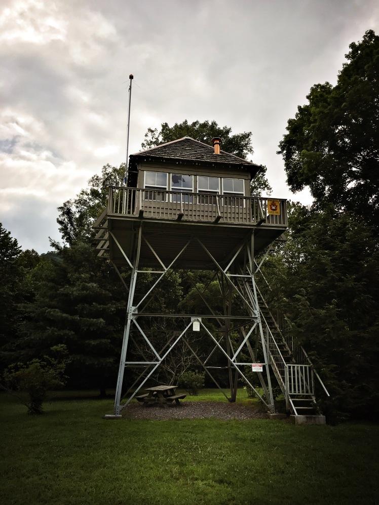 Snowball Fire Tower in Barnardsville