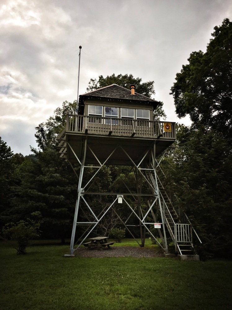 Snowball Fire Tower in Barnardsville