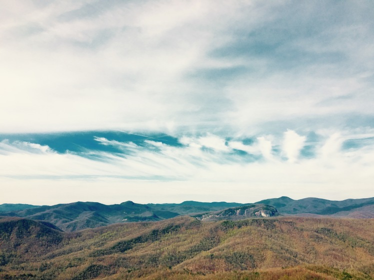 Black Mountain Trail - view of Looking Glass Rock