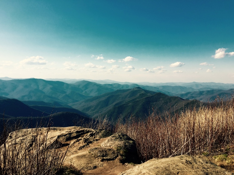 Sam Knob Summit Trail - view of Shining Rock Wilderness