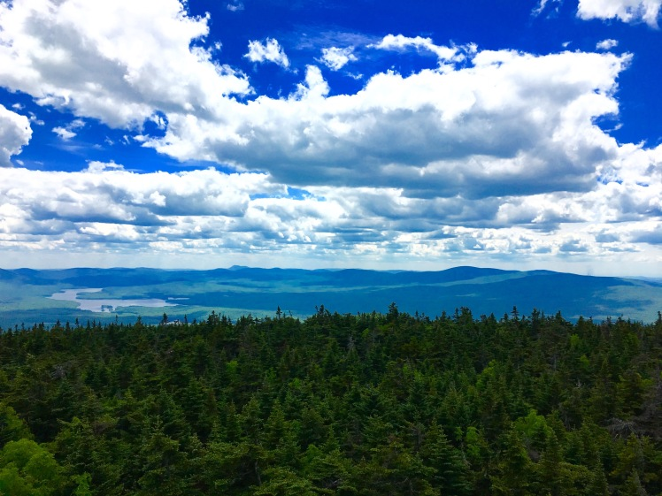 view from Stratton Fire Tower - clouds