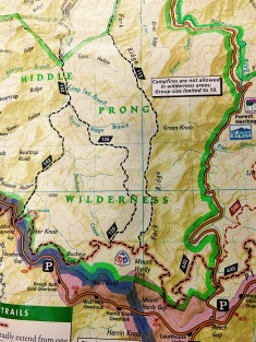 Map of Middle Prong - National Geographic