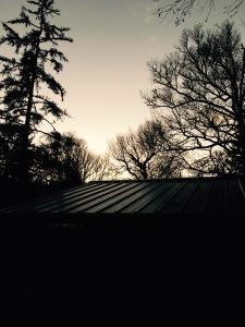 sunset from Laurel Gap Shelter