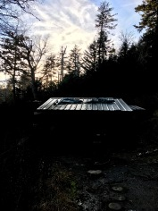 Tricorner Knob Shelter at twilight