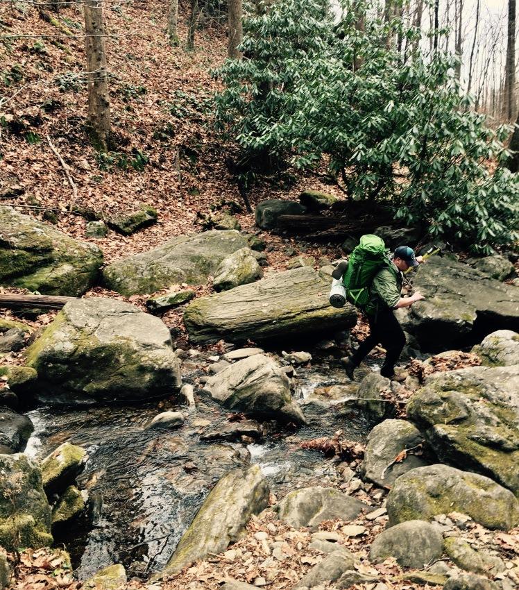 Farlow Gap Trail - Daniel Ridge Creek - Johnny