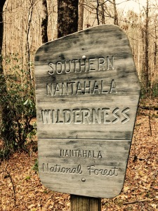 Southern Nantahala Wilderness - trailhead