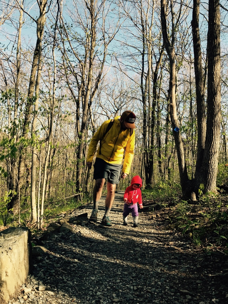 Elk Knob State Park - Summit Trail - Alice and I (picture by Emily)