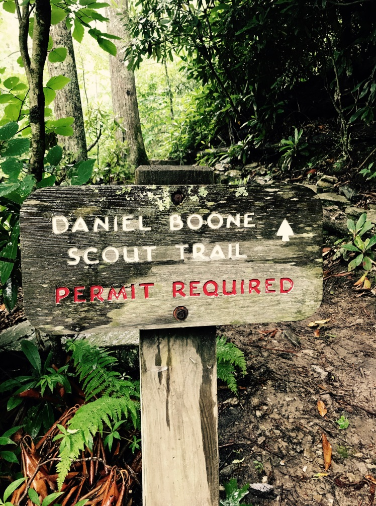 Daniel Boone Scout Trail - sign