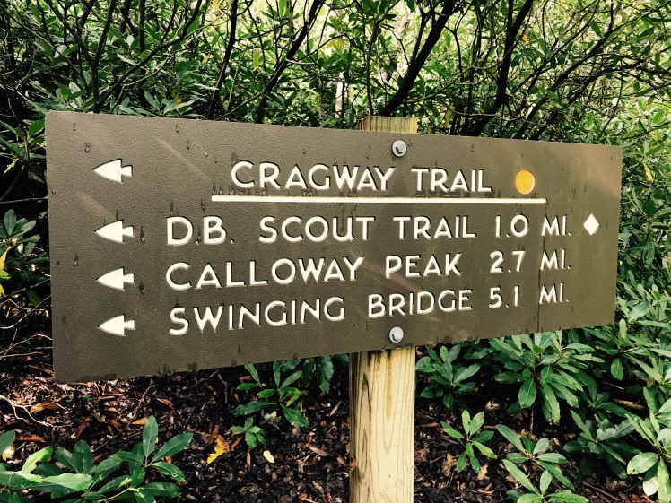 Cragway Trail - sign