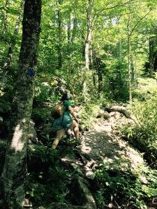 Nuwati Trail - Emily hiking