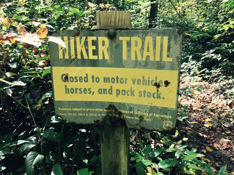 Poundingmill Trail - sign