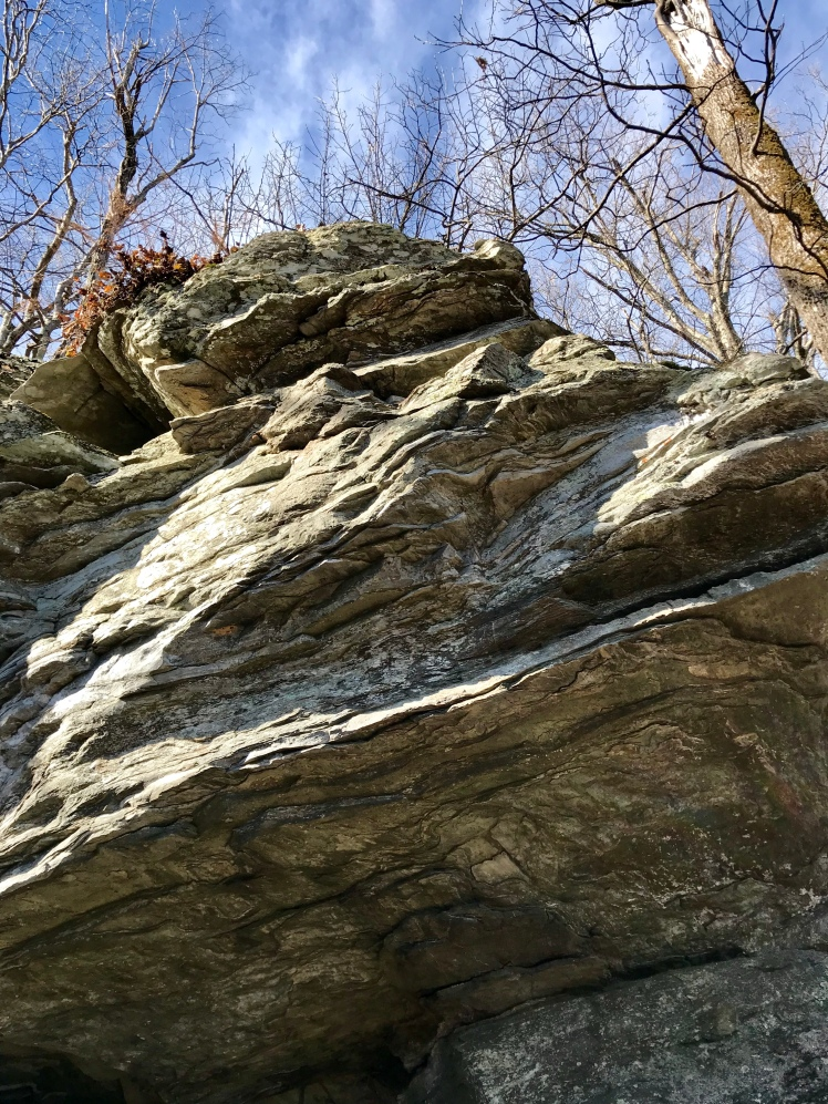 Jonas Ridge Trail - rock outcropping