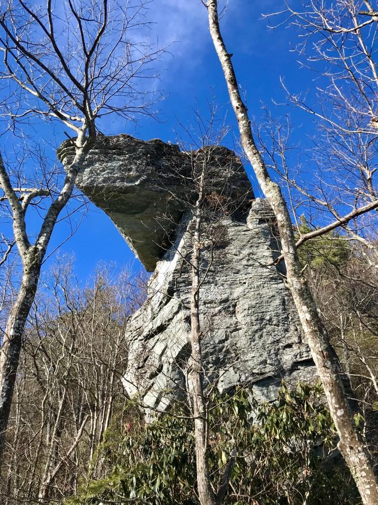 Jonas Ridge Trail - rocks outcropping near Sitting Bear Mountain