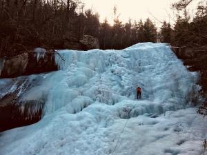 Upper Creek Falls Trail - climber