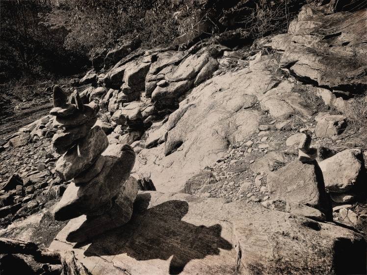 Bynum Bluff Trail - Ramona's stacked stones