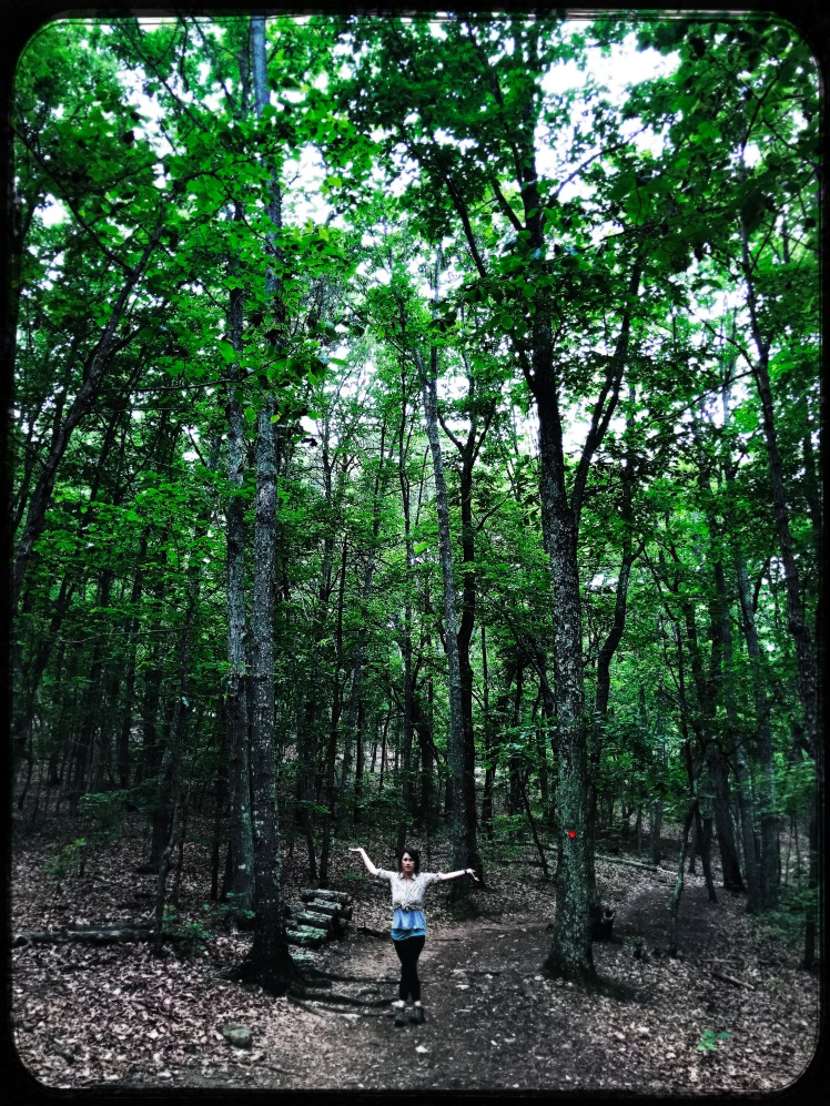 Crowders Mountain State Park - Emily on trail