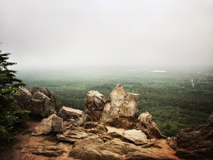 Crowders Mountain State Park - Kings Pinnacle view from rocks