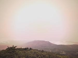 Moore's Knob Loop Trail - vista in clouds