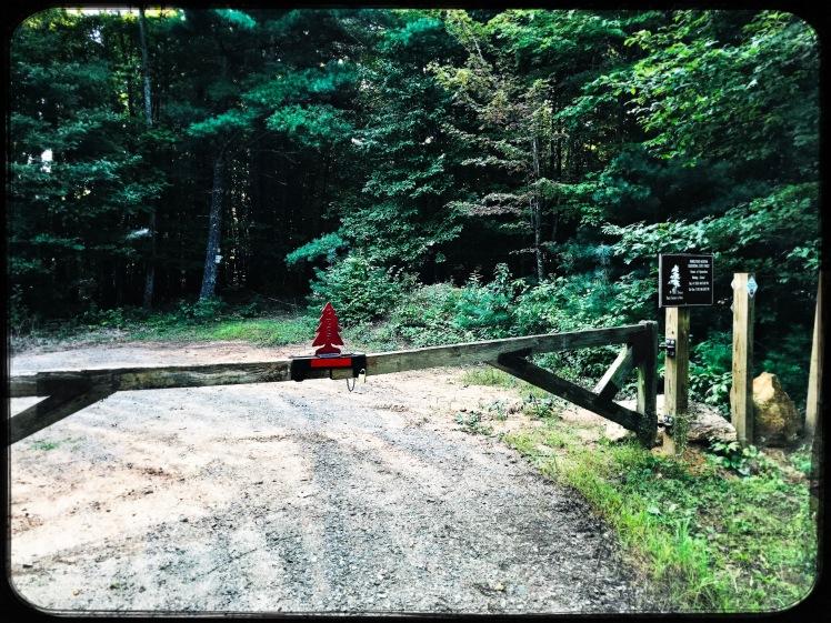 Rendezvous Mountain State Forest - Mountain Ridge Trail - gate