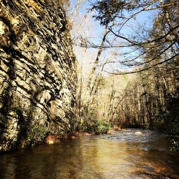 Laurel Falls Trail - cliff