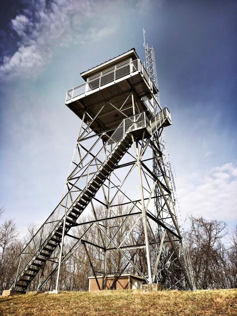 Pinnacle Mountain fire tower trail - fire tower