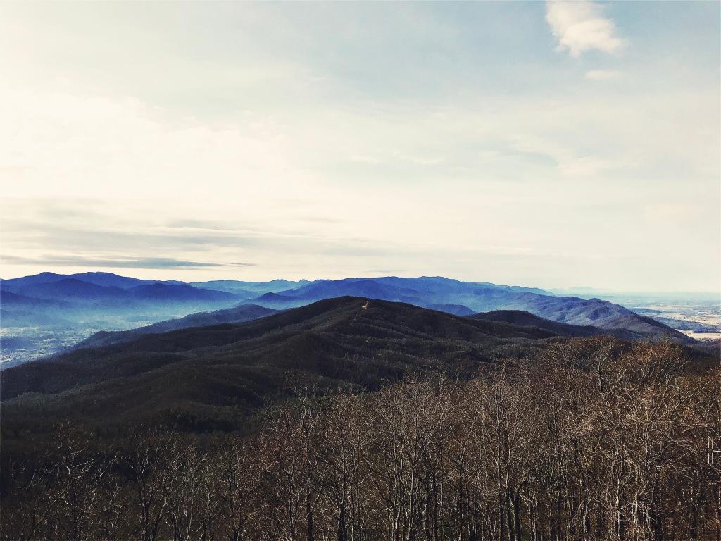 Pinnacle Mountain fire tower trail - view from atop buffalo mountain
