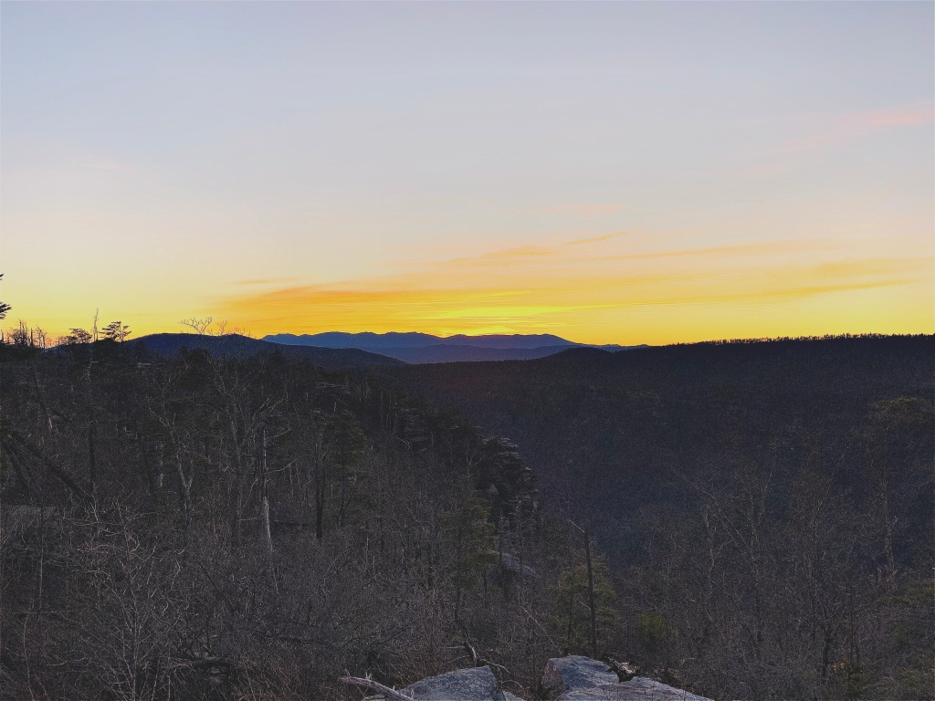 Linville Gorge Wilderness - sunset