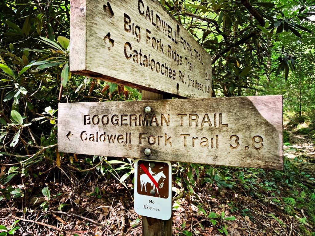 Boogerman Trail - trailhead